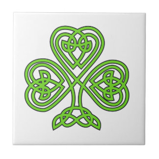 Celtic Knot Shamrock Tile
