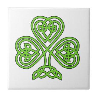 Celtic Knot Shamrock Tiles