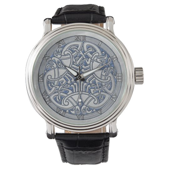 Celtic Knot Silver Birds & Blue - Watch