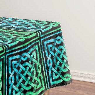 Celtic Knot - Square Blue Green Black Tablecloth