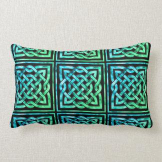 Celtic Knot - Square Blue Green Lumbar Pillow