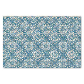 Celtic Knot Teal Blue Pattern Tissue Paper