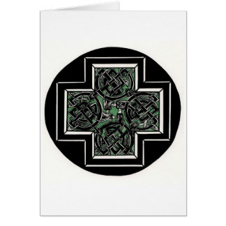 Celtic Knot with Dragons Card