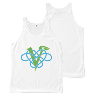 Celtic Knot Work Vegan Polyamory Heart Tank Top