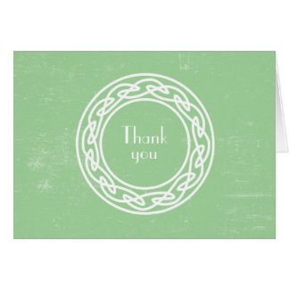 Celtic Knot wreath Irish thank you note card 3991