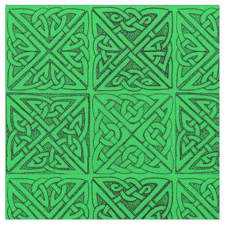 Celtic Knots  Dark Green Fabric