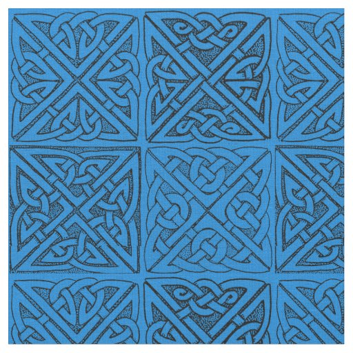 Celtic Knots in Blue Fabric
