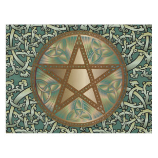 Celtic Knots & Pentagram 4 - Table or Alter Cloth Tablecloth