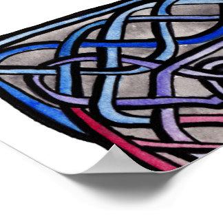 Celtic Knotwork Bisexual Flag Print