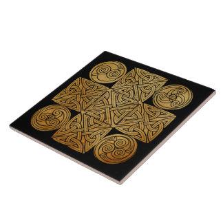 Celtic Knotwork Cross Tile
