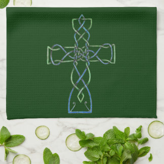 Celtic Knotwork Cross, Towel, Kitchen Towel