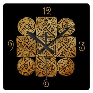 Celtic Knotwork Cross Wall Clocks