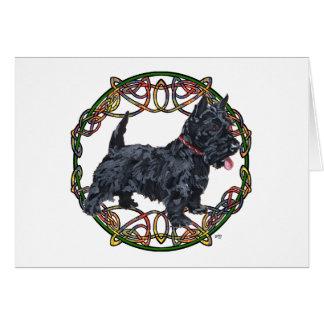 Celtic Knotwork de Terrier d écossais Cartes