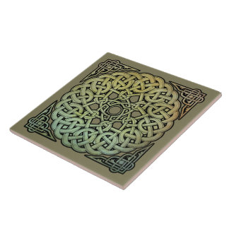 Celtic Knotwork Mandala Tile