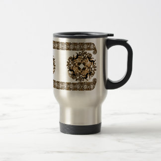 Celtic Knotwork Mugs, Cat Design #2 Travel Mug