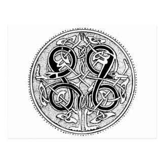 Celtic knotwork postcard