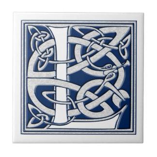 Celtic L Monogram Tile