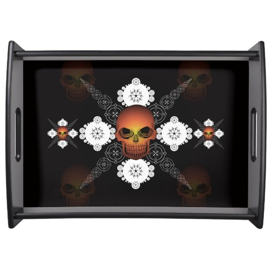 Celtic Lace Skull Serving Tray