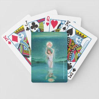 Celtic Lady of the Lake Goddess Poker Deck