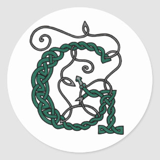 Celtic Letter G stickers