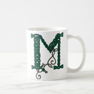 Celtic Letter M mug (right)
