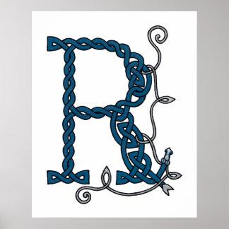 Celtic Letter R print