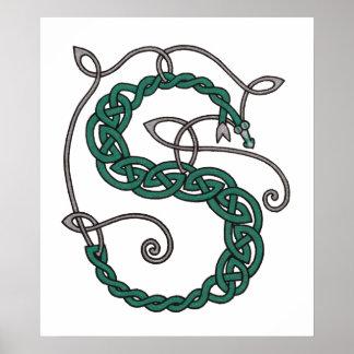Celtic Letter S print