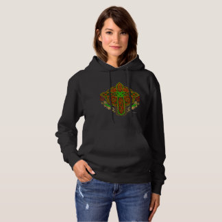 Celtic Lion Cross Ladies Hoodie