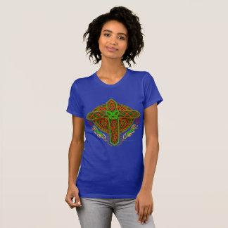 Celtic Lion Cross Ladies Jersey T-Shirt