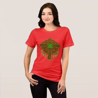 Celtic Lion Cross Ladies Relaxed Fit T-Shirt