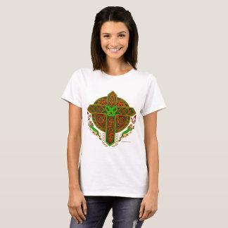 Celtic Lion Cross Ladies T-Shirt