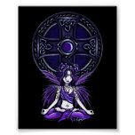 """Celtic Lotus"" Yoga Chic Fairy Posters"
