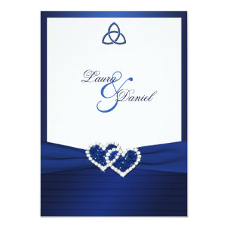 Celtic Love Knot in Sapphire Blue Invitation