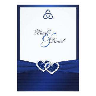 Celtic Love Knot in Sapphire Blue Invitation
