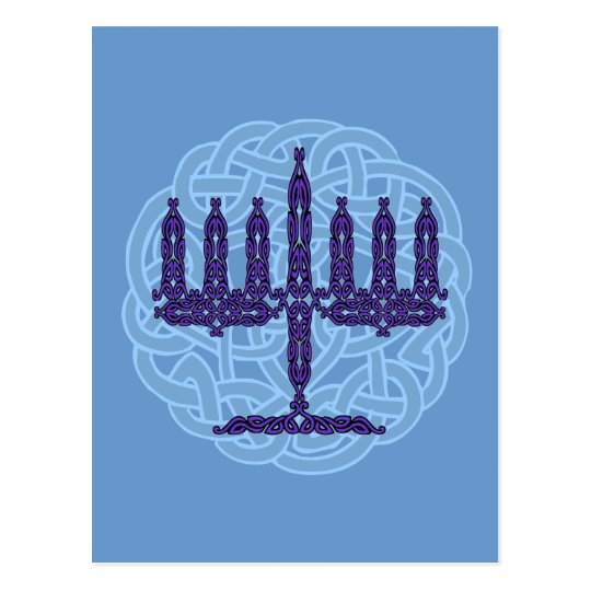 Celtic Menorah Postcard