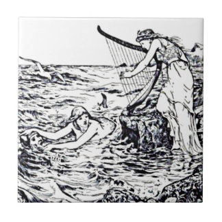 Celtic Mermaid Fairy Tale Illustration Tile