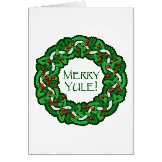 Celtic Merry Yule Wreath Card