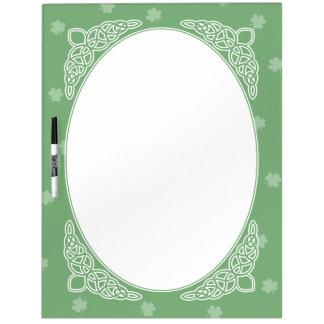 Celtic Mist Dry Erase Board - Green
