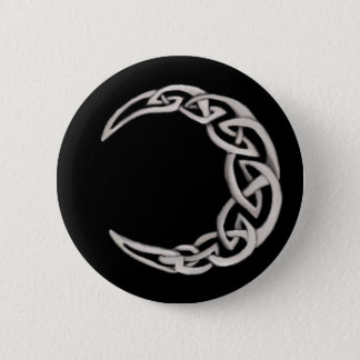 Celtic moon 2 inch round button