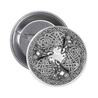 Celtic,Moon Watching Hare's 2 Inch Round Button