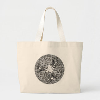 Celtic,Moon Watching Hare's Large Tote Bag