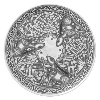 Celtic,Moon Watching Hare's Party Plate
