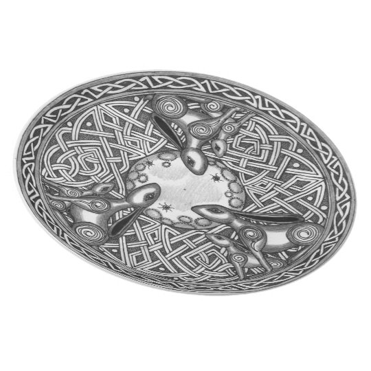 Celtic,Moon Watching Hare's Plate