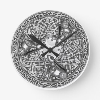 Celtic,Moon Watching Hare's Wallclock