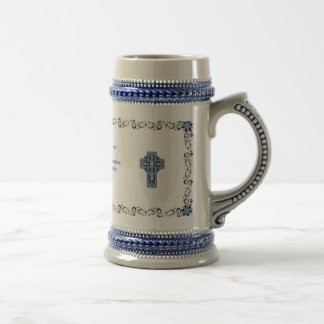 Celtic Mug - Coffee Mug with Celtic Cross in Blue