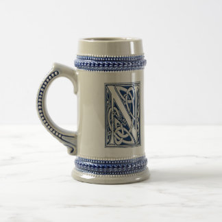 Celtic N Monogram Beer Stein