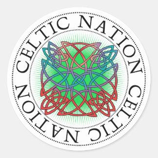 Celtic Nation St. Patrick's Day Classic Round Sticker