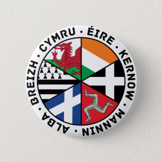 Celtic Nations Flags 2 Inch Round Button