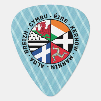 Celtic Nations Flags Plektrum Guitar Pick