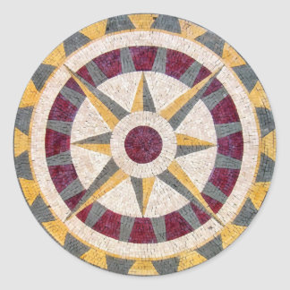 Celtic Nautical Compass Classic Round Sticker